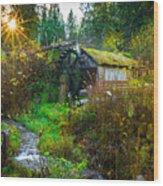 Dalby Waterwheel Wood Print