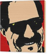 Dale Earnhardt Wood Print