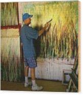 Dale Painting Wood Print