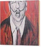 Dali In Hell Wood Print