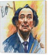 Dali Wood Print by Ken Meyer jr