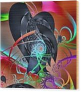 Dali-scape Wood Print