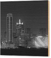 Dallas Bw Wood Print