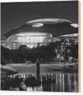 Dallas Cowboys Stadium Bw 032115 Wood Print