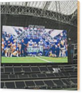 Dallas Cowboys Take The Field Wood Print