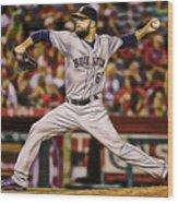 Dallas Keuchel Baseball Wood Print