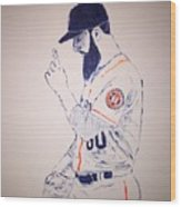 Dallas Keuchel Give Thanks Wood Print