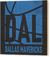 Dallas Mavericks City Poster Art Wood Print