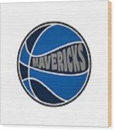 Dallas Mavericks Retro Shirt Wood Print