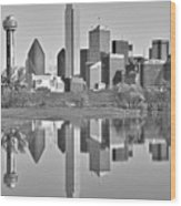 Dallas Monochrome Wood Print