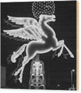 Dallas Pegasus Bw 121517 Wood Print