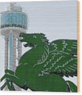 Dallas Pegasus Reunion Tower Green 030518 Wood Print
