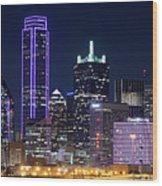 Dallas Purple Night 71417 Wood Print