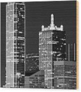 Dallas Shapes Monochrome Wood Print