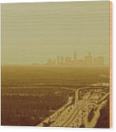 Dallas Sky Wood Print