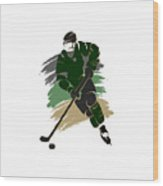 Dallas Stars Player Shirt Wood Print
