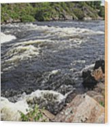 Dalles Rapids French River I Wood Print