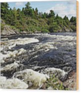 Dalles Rapids French River II Wood Print