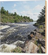 Dalles Rapids French River Iv Wood Print