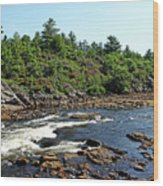 Dalles Rapids French River Ontario Wood Print