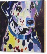 Dalmatian - Dottie Wood Print by Alicia VanNoy Call