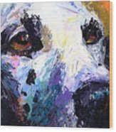 Dalmatian Dog Painting Wood Print