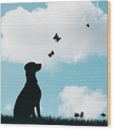 Dalmatian Dog Silhouette Wood Print