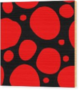 Dalmatian Pattern With A Black Background 02-p0173 Wood Print