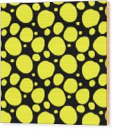Dalmatian Pattern With A Black Background 05-p0173 Wood Print