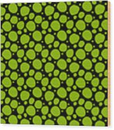 Dalmatian Pattern With A Black Background 09-p0173 Wood Print
