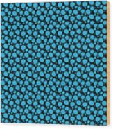 Dalmatian Pattern With A Black Background 18-p0173 Wood Print
