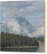 Dam Clouds Wood Print