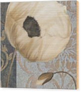 Damask Poppy Wood Print