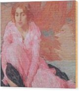 Dame En Rose Wood Print
