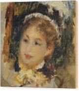 Dame En Toilette De Ville 1875 Wood Print
