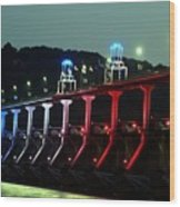 Damm River Bridge Wood Print
