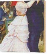 Dance At Bougival 1883 Wood Print
