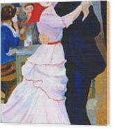 Dance At Bougival After Renoir Wood Print