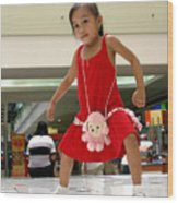 Dance Girl Dance 2 Wood Print