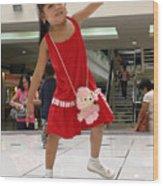 Dance Girl Dance Wood Print