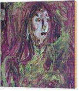 Dance Hall Girl Wood Print