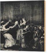 Dance In A Madhouse Wood Print