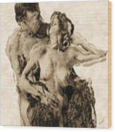 Dance Wood Print by Kurt Van Wagner