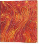 Dance Of Fire Wood Print