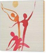 Dance Of Joy Wood Print