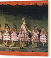 Dance Of La Ninos Wood Print
