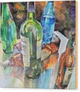 Dance Of Light And Glass Wood Print