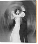 Dance Of Love Wood Print by Daniel Csoka