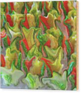 Dance Of The Appetizers Wood Print