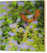 Dance Of The Butterflies Wood Print